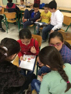 Picture of children reading together